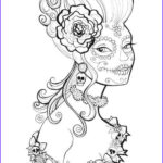Stress Relieving Coloring Pages Elegant Photos Free Printable Day Of the Dead Coloring Pages by Heather
