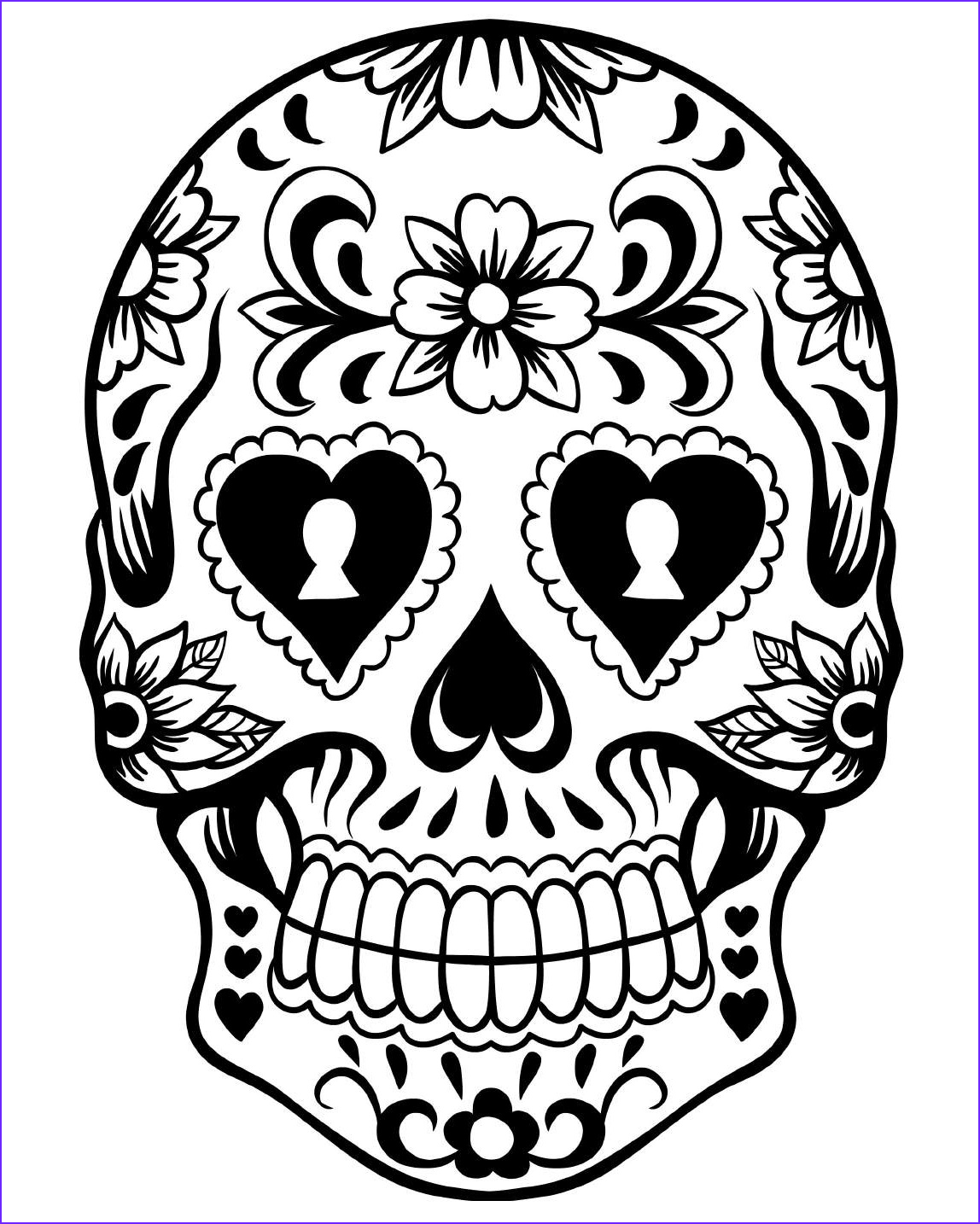 Sugar Skull Coloring Awesome Images Free Printable Day Of the Dead Coloring Pages Best