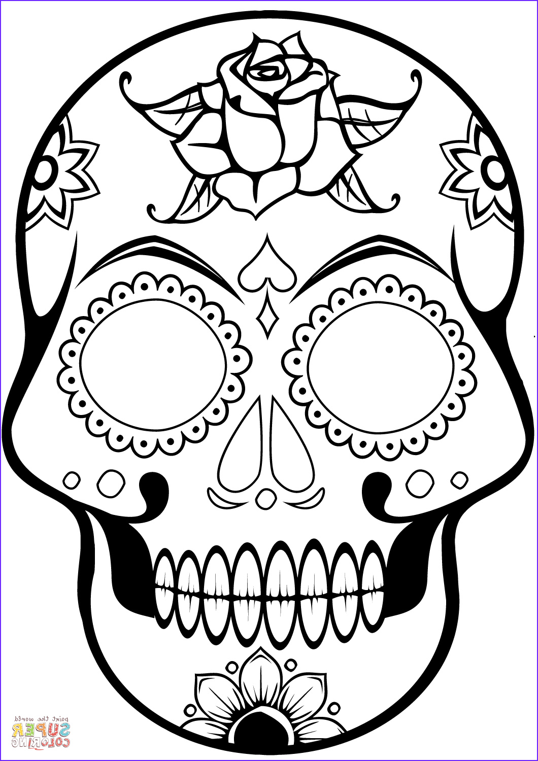 Sugar Skull Coloring Book Beautiful Gallery Sugar Skull Coloring Page