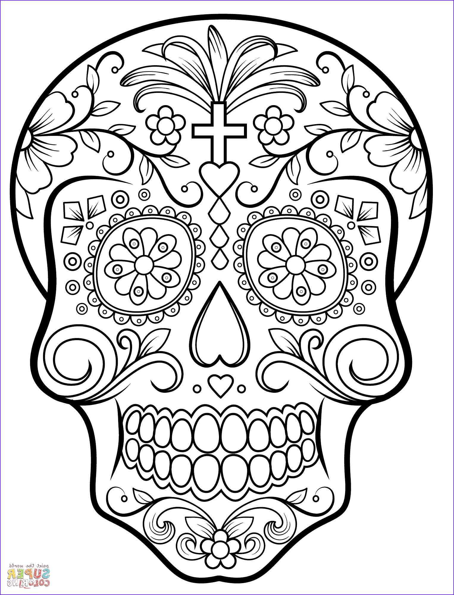 Sugar Skull Coloring Book Beautiful Photos Sugar Skull Coloring Page