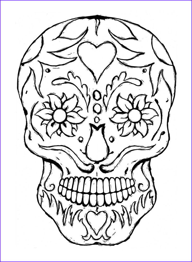 Sugar Skull Coloring Book Beautiful Stock This Sugar Skull Coloring E Book Contains 21 Pages Of Day