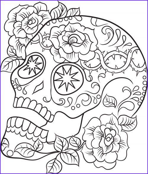 sugar skull advanced coloring 1