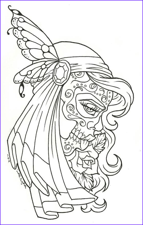 Sugar Skull Coloring Book Inspirational Photography Sugar Skull Coloring Page Coloring Home