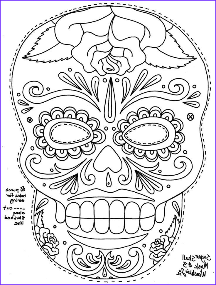 Sugar Skull Coloring Book New Stock Sugar Skull Coloring Page Coloring Home