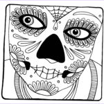 Sugar Skull Coloring Cool Collection Yucca Flats N M Wenchkin S Coloring Pages Woman S Face