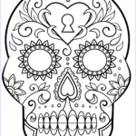 Sugar Skull Coloring Luxury Photos Day Of The Dead Sugar Skull Coloring Page