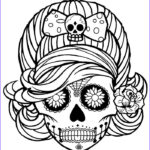 Sugar Skull Coloring Pages Awesome Image Printable Skulls Coloring Pages For Kids