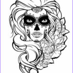 Sugar Skull Coloring Pages Cool Collection Sugar Skull