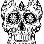 Sugar Skull Coloring Pages Cool Image Printable Skulls Coloring Pages For Kids