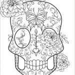 Sugar Skull Coloring Pages Elegant Photography Sugar Skull Coloring Page Coloring Home