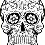 Sugar Skull Coloring Pages Elegant Photos Free Printable Day Of The Dead Coloring Pages Best