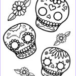 Sugar Skull Coloring Pages Inspirational Image Mexican Day Of The Dead Art And Free Printables