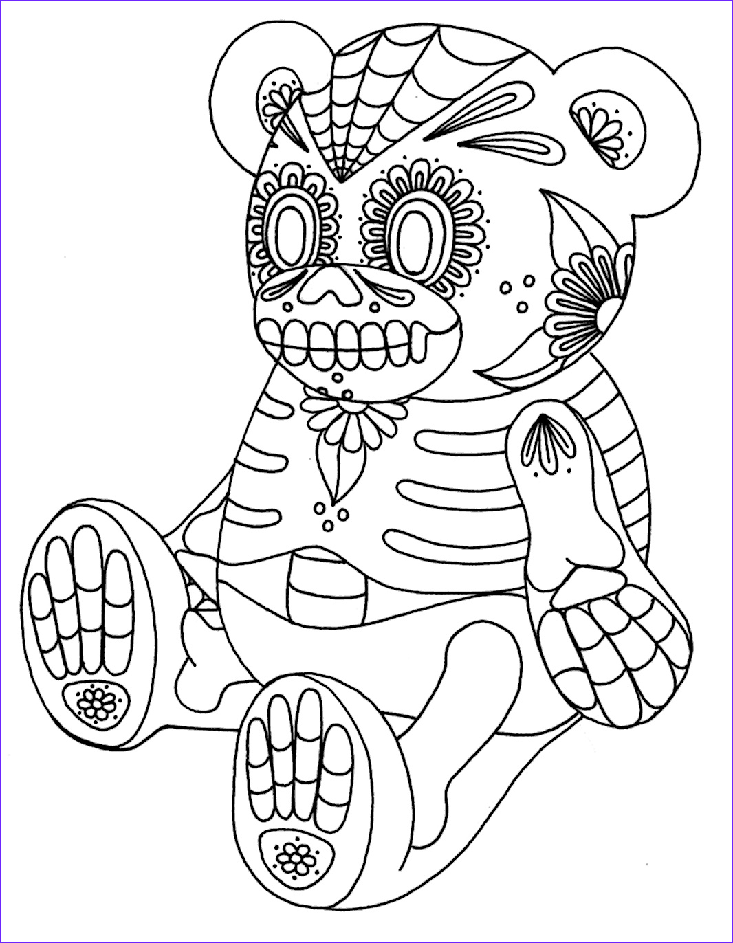 wenchkins coloring pages sugar skull
