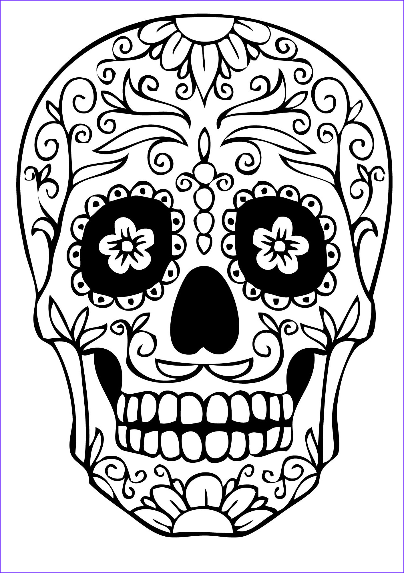 sugar skull coloring pages