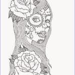 Sugar Skull Girl Coloring Pages Awesome Photos Free Printable Day Of The Dead Coloring Pages Best
