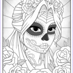 Sugar Skull Girl Coloring Pages Awesome Photos Sugar Skull Girl Colouring Page By Tearingcookie On