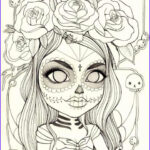 Sugar Skull Girl Coloring Pages Beautiful Collection 307 Best Images About Skull Day Of The Dead Coloring On