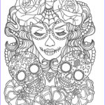 Sugar Skull Girl Coloring Pages Beautiful Photos 248 Best Sugar Skulls Day Of The Dead Coloring Pages For