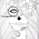 Sugar Skull Girl Coloring Pages Beautiful Photos Adult Coloring Page Sugar Skull Girl Art Day Of The Dead