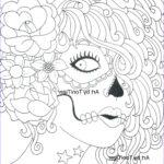 Sugar Skull Girl Coloring Pages Best Of Photos Instant Digital Download Coloring Page Sugar Skull Girl