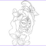 Sugar Skull Girl Coloring Pages Best Of Photos Sugar Skull Girl Coloring Sheet For Dia De Los Muertos