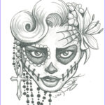 Sugar Skull Girl Coloring Pages Cool Image Sugar Skull Girl Coloring Pages