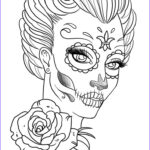 Sugar Skull Girl Coloring Pages Cool Photos Coloring Pages Coloring Pages For Adult Tattoo Sugar