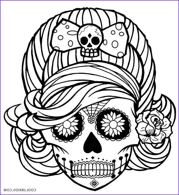 Sugar Skull Girl Coloring Pages Elegant Photos Printable Skulls Coloring Pages for Kids