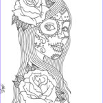 Sugar Skull Girl Coloring Pages Inspirational Stock Day Of The Dead Coloring Pages