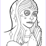 Sugar Skull Girl Coloring Pages Luxury Gallery Girl Sugar Skull Coloring Pages
