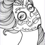 Sugar Skull Girl Coloring Pages Luxury Photos Free Printable Day Of The Dead Coloring Book Page By
