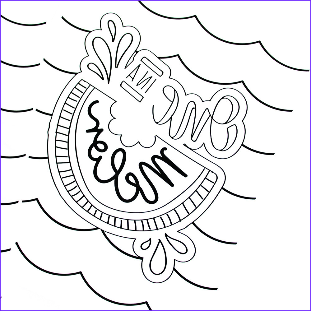 hand lettered summer coloring pages