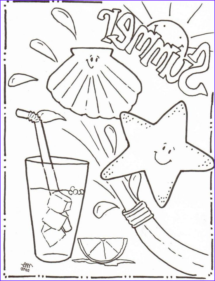 Summer Coloring Pages Awesome Photos Nothing Says Summer Like the Beach and some Cool Drinks