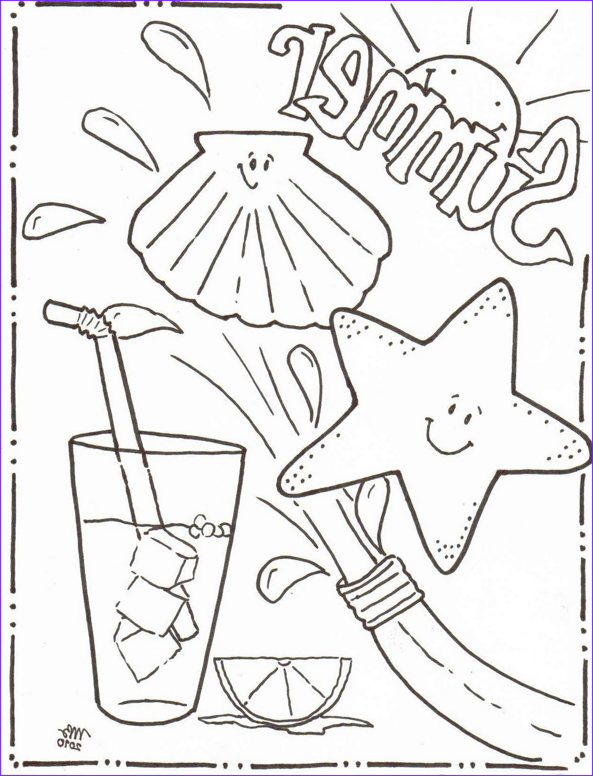 summer coloring pages original mkb