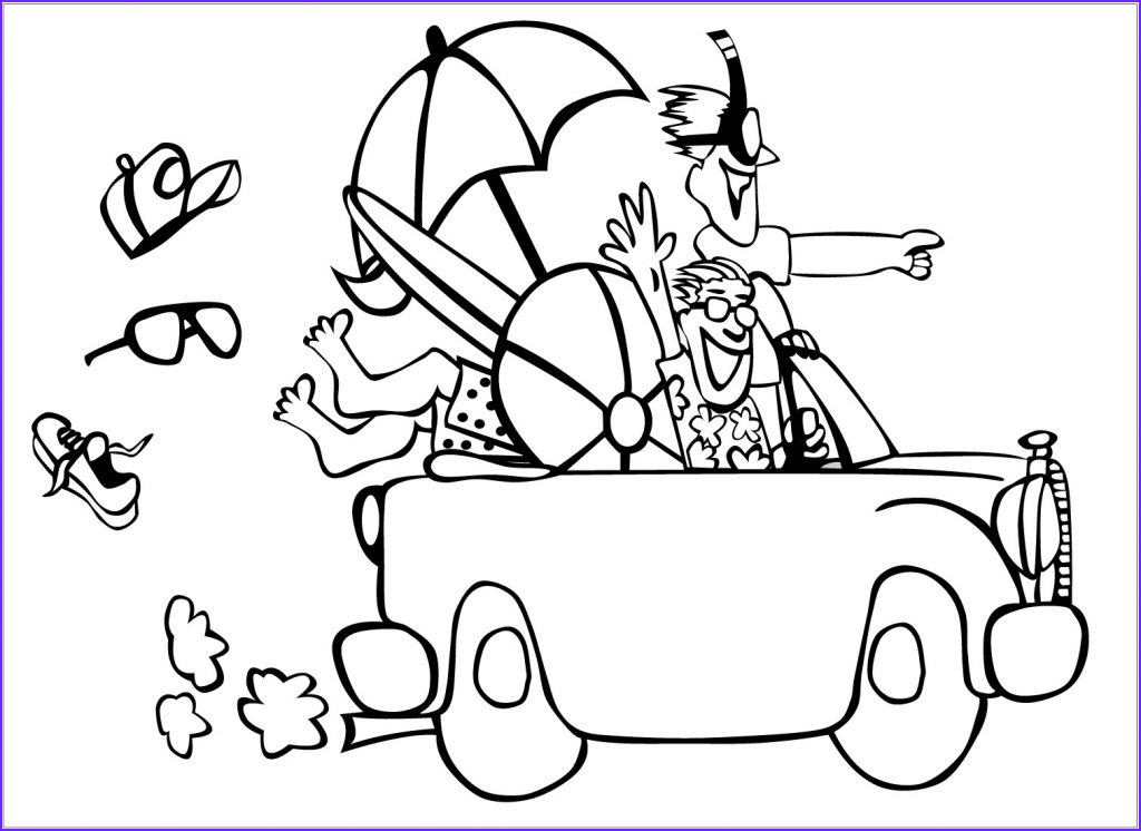 free printable summer coloring pages kids