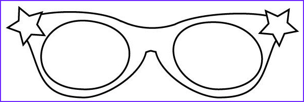 Sun Glasses Coloring Page New Gallery Star Glasses Template Coloring Pages