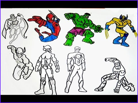 Super Hero Coloring Book Beautiful Photos All Superheroes Coloring Pages Hulk Iron Man Spiderman