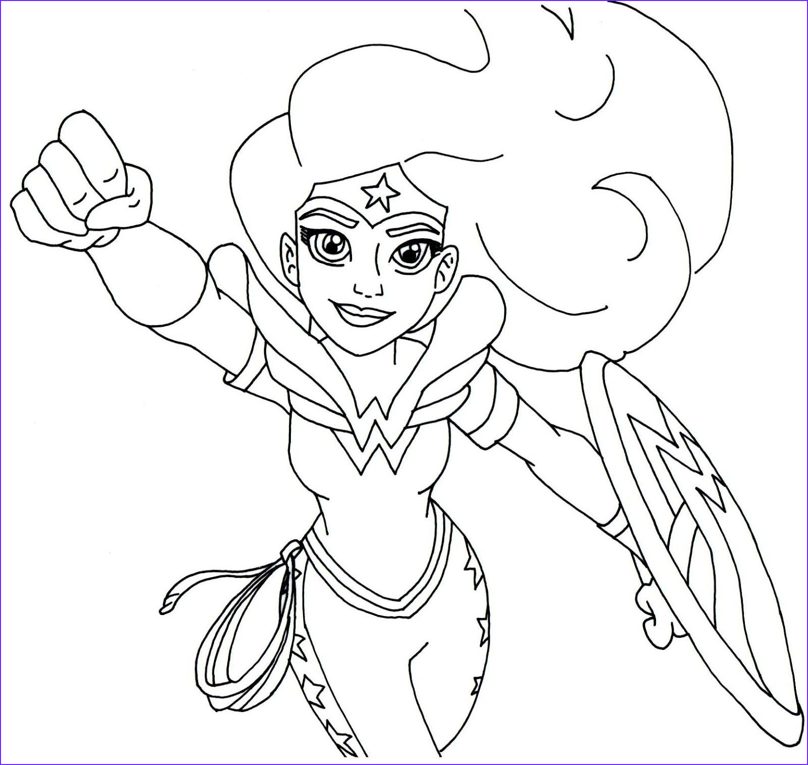 Super Heroes Coloring Books Unique Photos Free Printable Super Hero High Coloring Page for Wonder