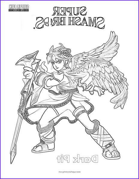 dark pit super smash brothers coloring page