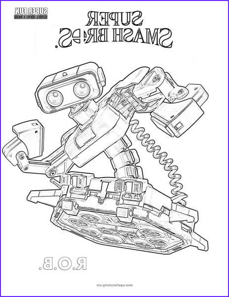 rob super smash brothers coloring page