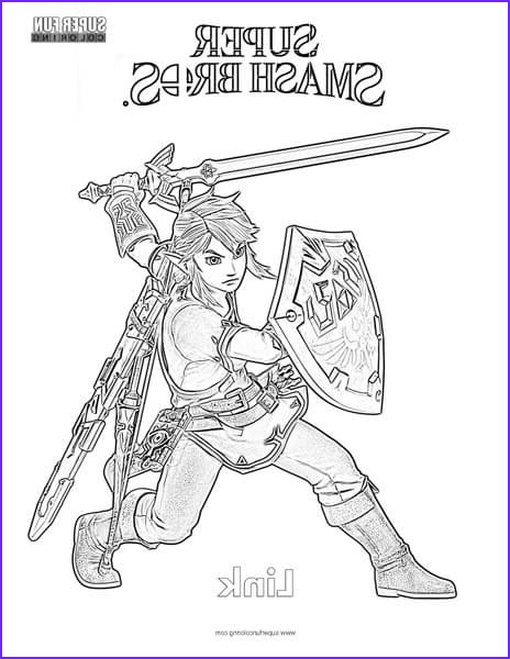 link super smash brothers coloring page