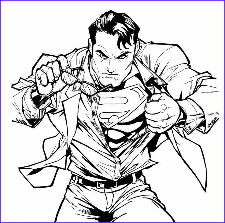 Superman Coloring Book Beautiful Photos 1000 Images About Superman Coloring On Pinterest