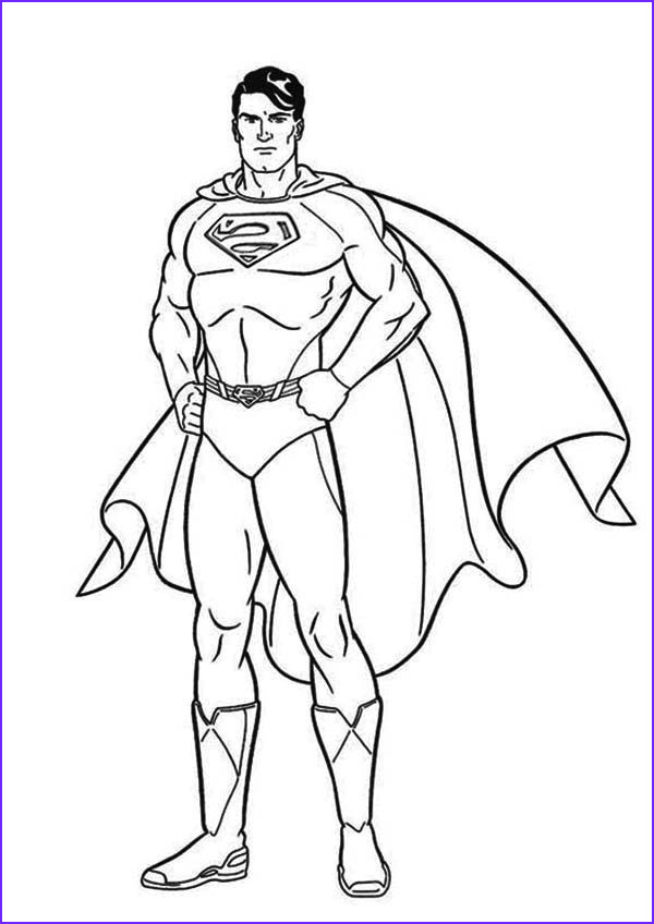Superman Coloring Book Luxury Images Color Pages Of Superman