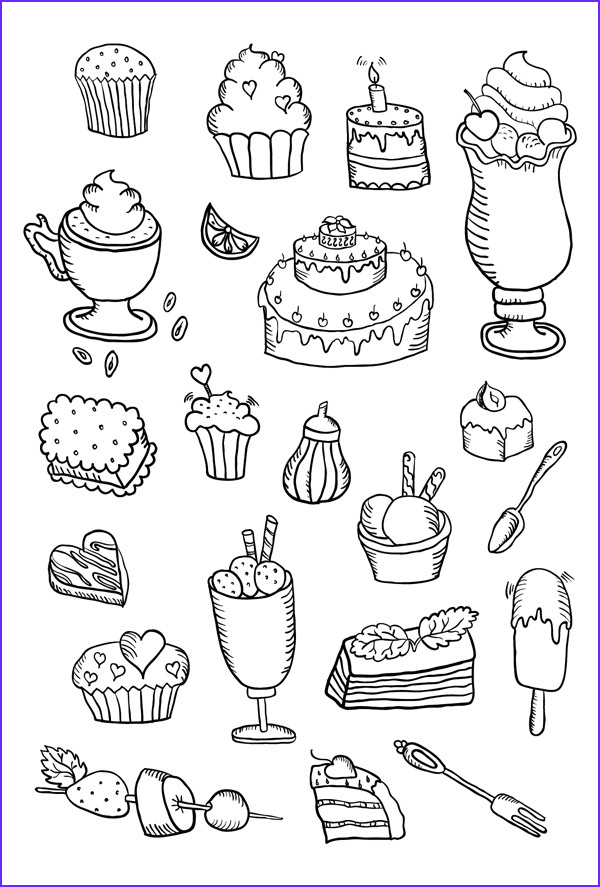 Sweets Coloring Pages Awesome Images Coloring Postcard Sweets Coloring Postcards