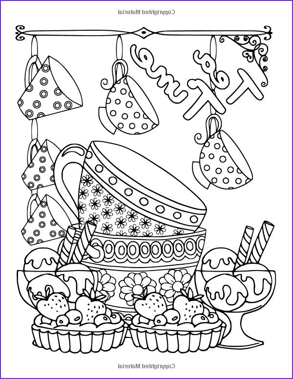 Sweets Coloring Pages Beautiful Photos Amazonsmile Coffee Tea & Sweets Adult Coloring Book