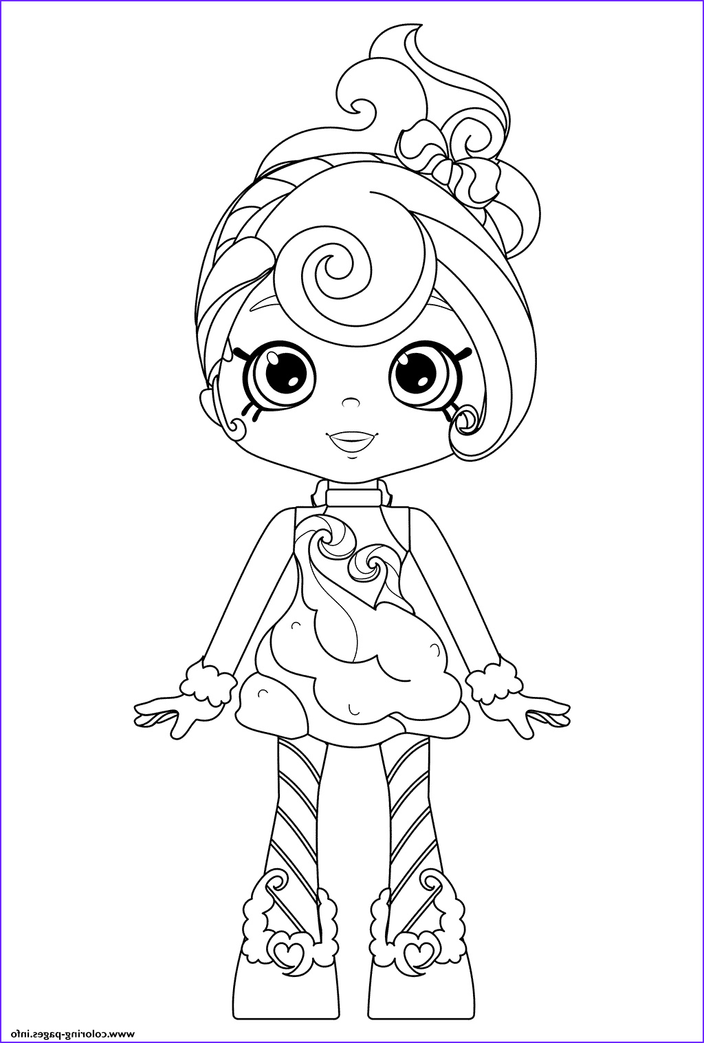 candy sweets of shoppies printable coloring pages book