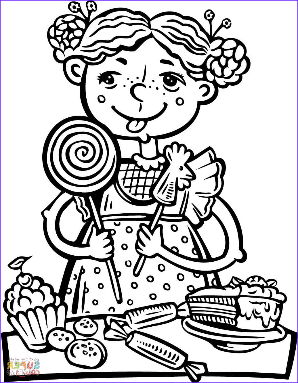 Sweets Coloring Pages New Collection Candy Drawing at Getdrawings
