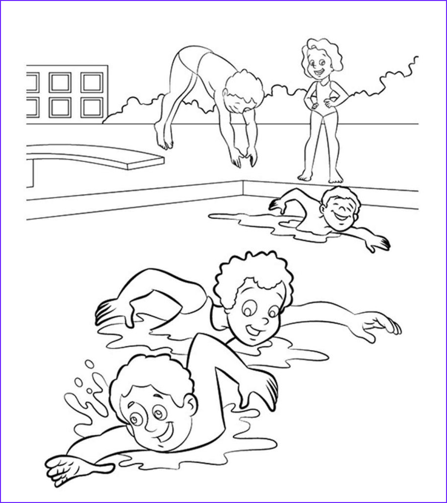 Swim Coloring Pages Beautiful Stock top 10 Free Printable Swimming Coloring Pages Line