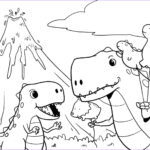 T Rex Coloring Pages Awesome Stock Dinosaurs Mom And Son Tyrannosaurus Rex T Rex Coloring Page