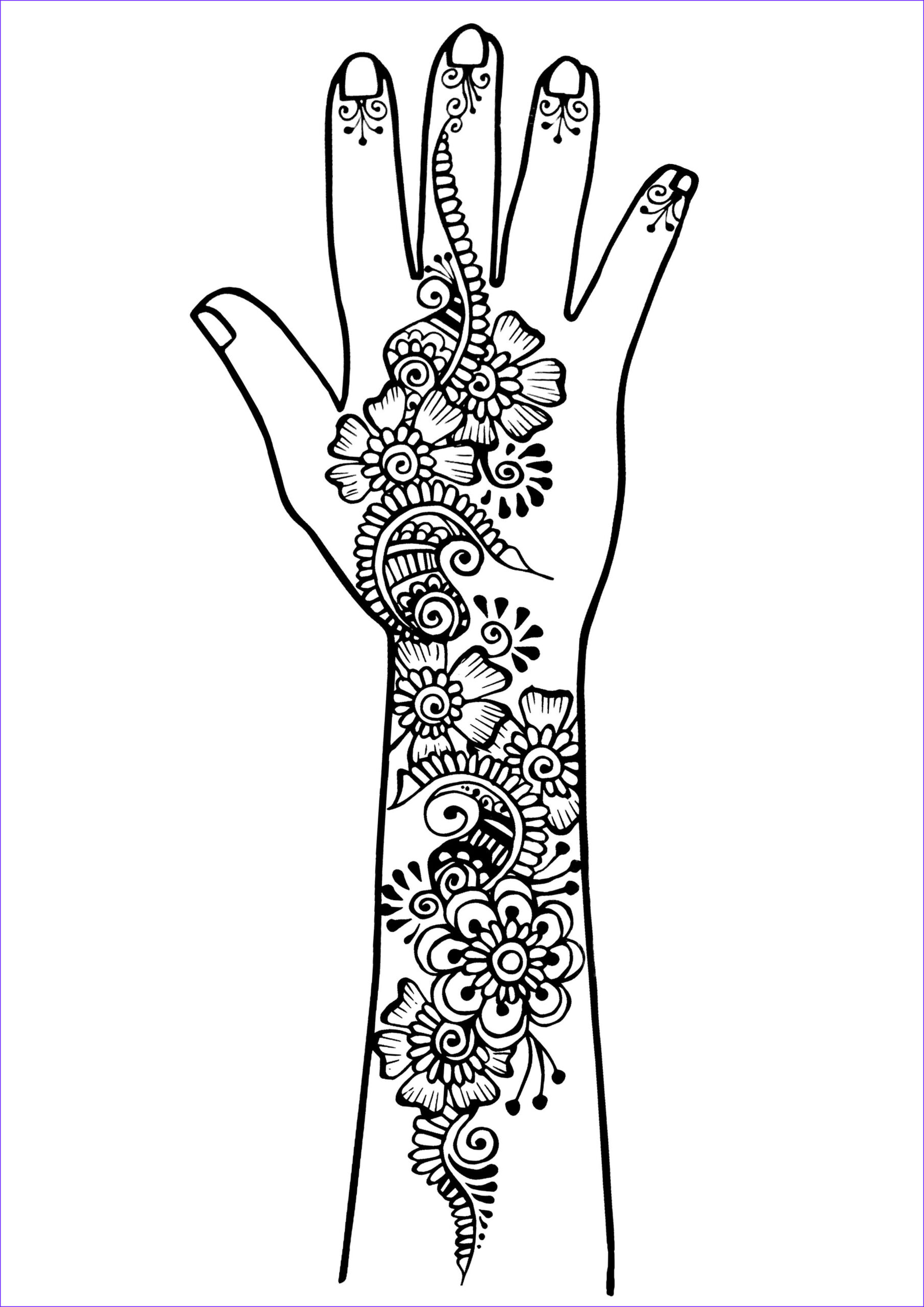 Tattoo Coloring Pages Beautiful Collection Arm and Hand Tattoo 1 Tattoos Adult Coloring Pages